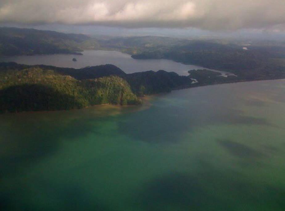 Tropical Island Cove, in Golfo Dulce (between Golfito and Zancudo), Costa Rica.