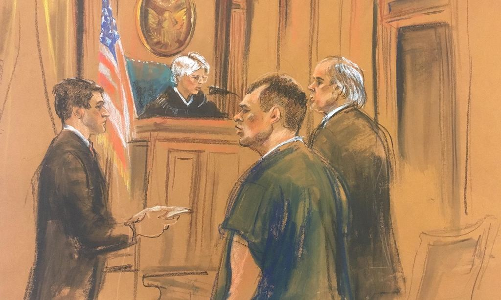 Arthur Budovsky (in courtroom sketch) admitted he knew Liberty Reserve was 'susceptible' to criminal use. Photograph: Marilyn Church/Reuters