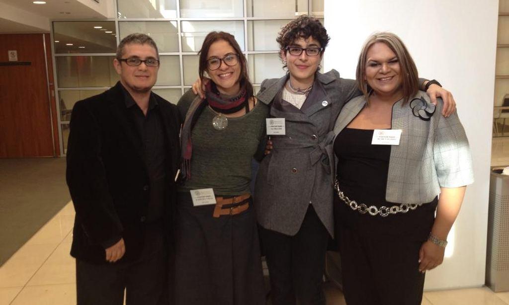 Intersex activists Mauro Cabral, Pidge Pagonis, Paula Sandrine Machado and Natasha Jiménez. Photograph: Natasha Jiméne