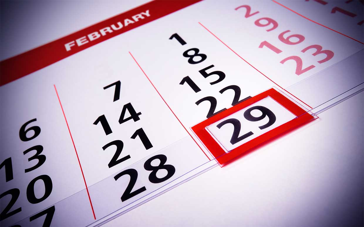 A leap year (año bisiesto in Spanish) is a year containing one additional day.