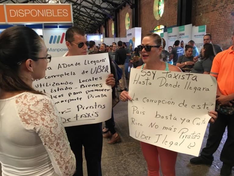Taxi Drivers Protest Uber's Presence At Job Fair
