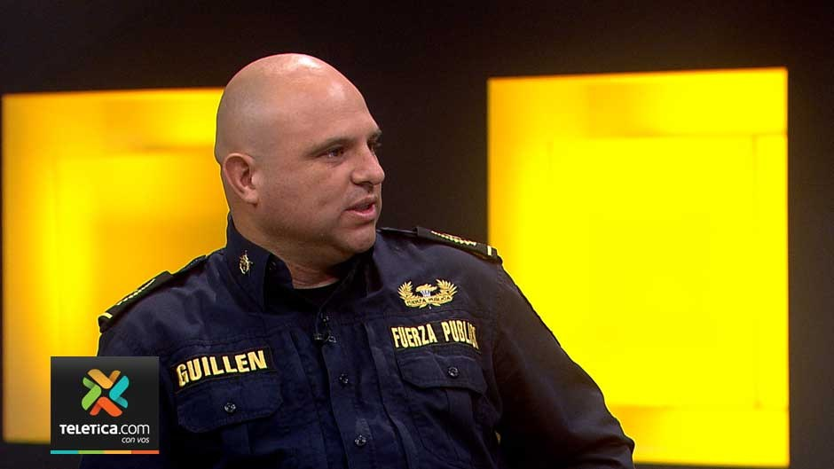 Freddy Guillén, head of Intelligence at the Fuerza Publica (police) Photo Telenoticias