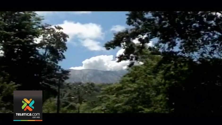 The Rincon de la Vieja volcano Thursday afternoon.