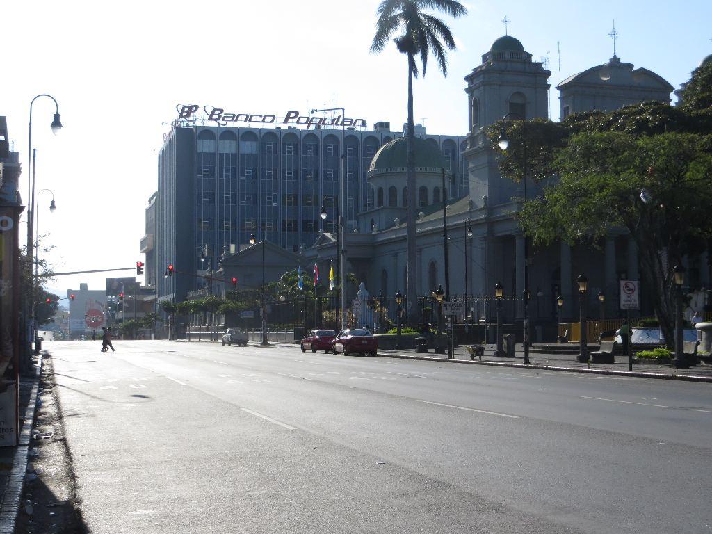 The Cathedral Metropolitana, stands proudly looking out over an uncommonly quiet Second Avenue.