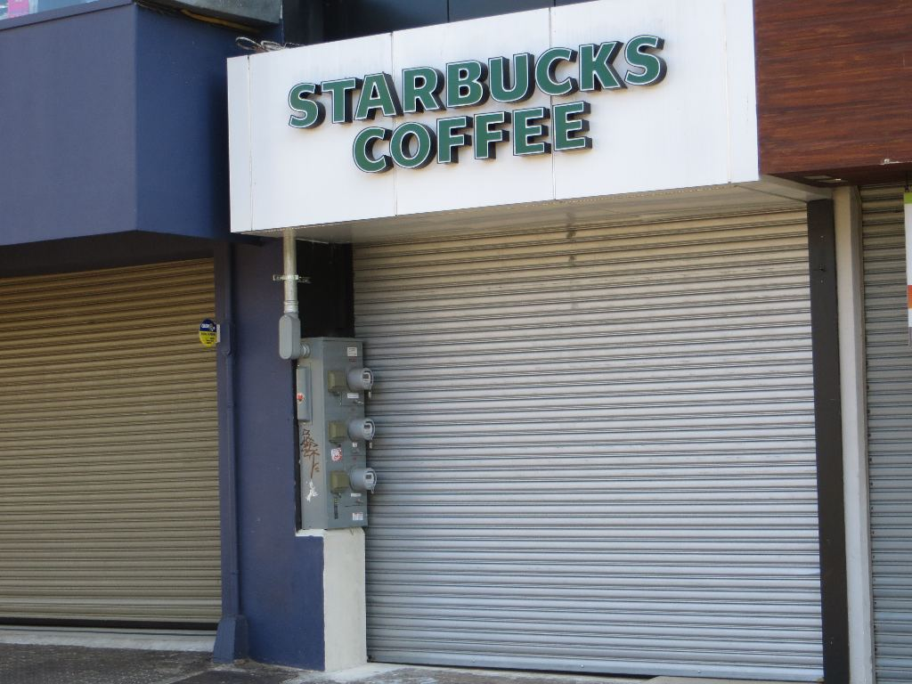Even Starbucks, which opens at 6 a.m. on weekday mornings to serve coffee to the thousands of commuters, is shuttered.