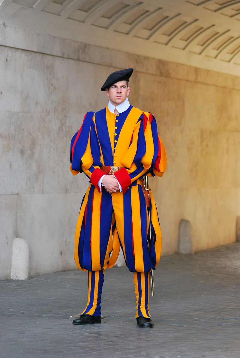 Swiss Guard posted at St. Peter's Basilica, Vatican City