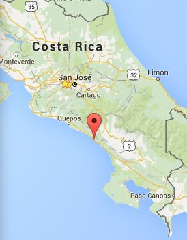 Playa Dominicalito is located south of Domincal, about 3 hours from San Jose