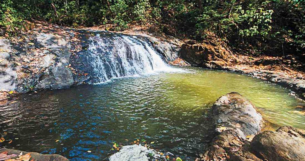 Pools formed by El Salto del Calvo waterfall