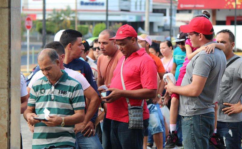Cuban migrants stranded in Panama. EFE/File