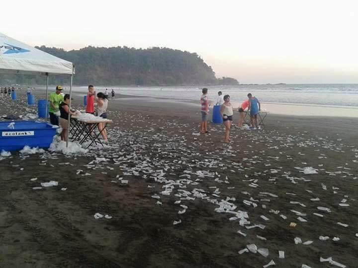 Playa Jaco after a beach run on Saturday (April 2, 2016). Photo from Facebook page El Infierno en Costa Rica
