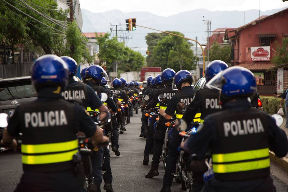 Costa Rica authorities say a police presence will be maintained around the clock. Photo MSP