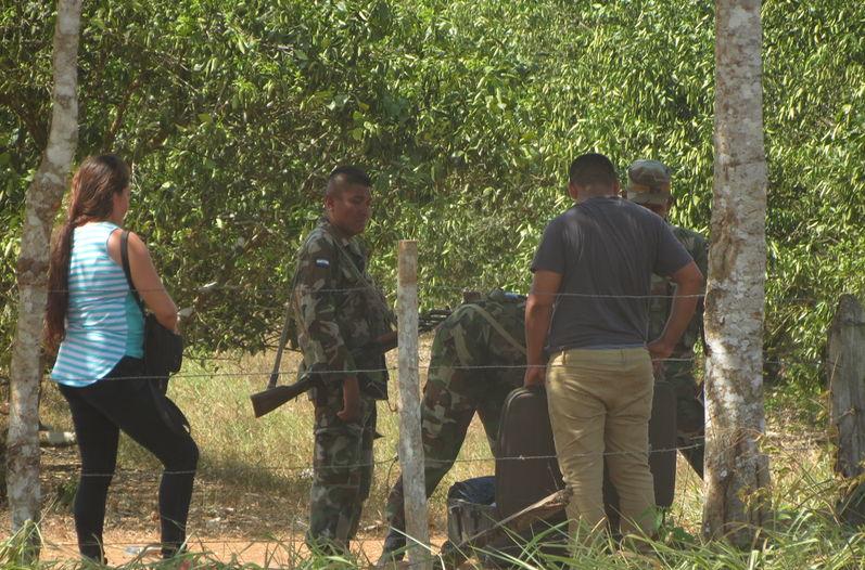 Nicaragua beefs up migratory controls at Las Tablillas border with Costa Rica. Photo Carlos Hernández, La Nacion