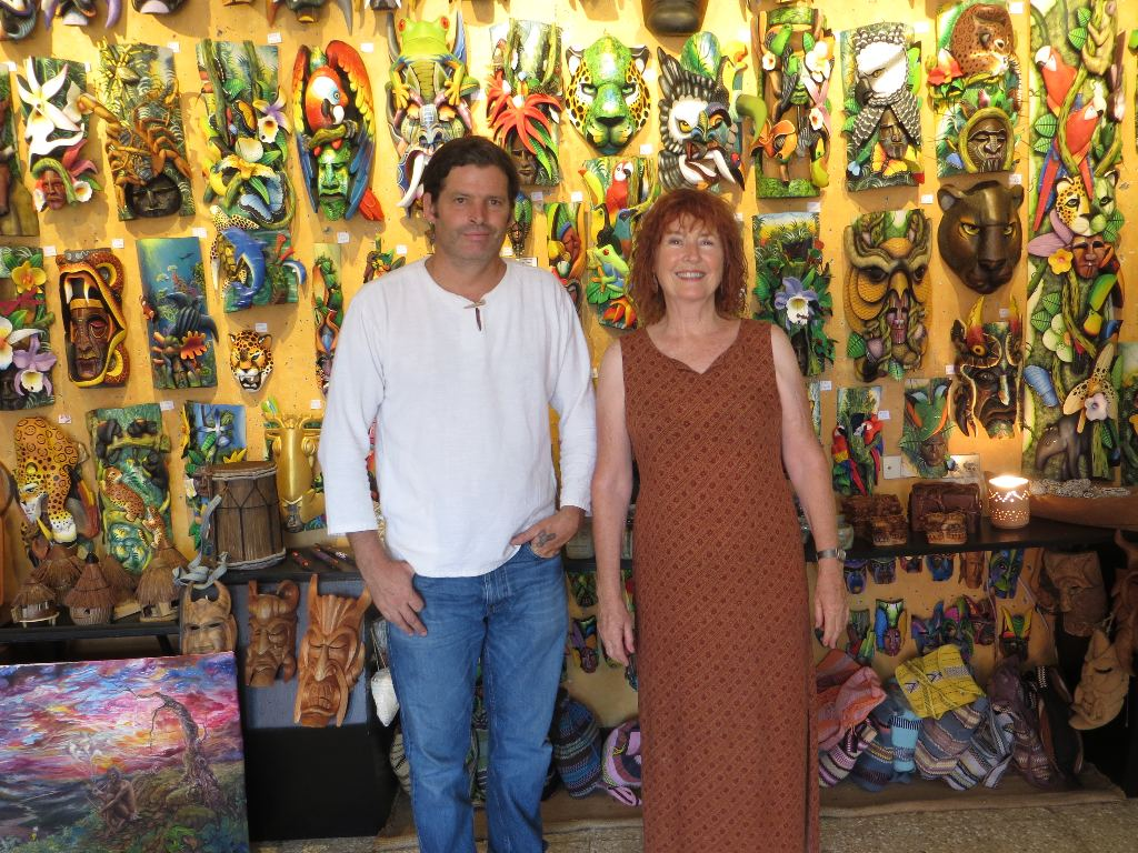 Owner of Galería Namu, Aisling French, and her son, Conall French, both have an encyclopedic knowledge of Costa Rica's tribal and folk art.