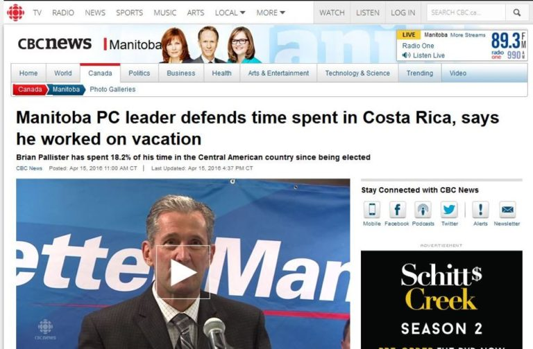 """Canadian Politican In Hot Water For Spending """"Too Much Time"""" In Costa Rica"""