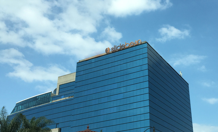 The Slideban blog posted this photo, complete withs logo, of the Torre Mercedes in San Jose, saying it had secretly purchased the building.