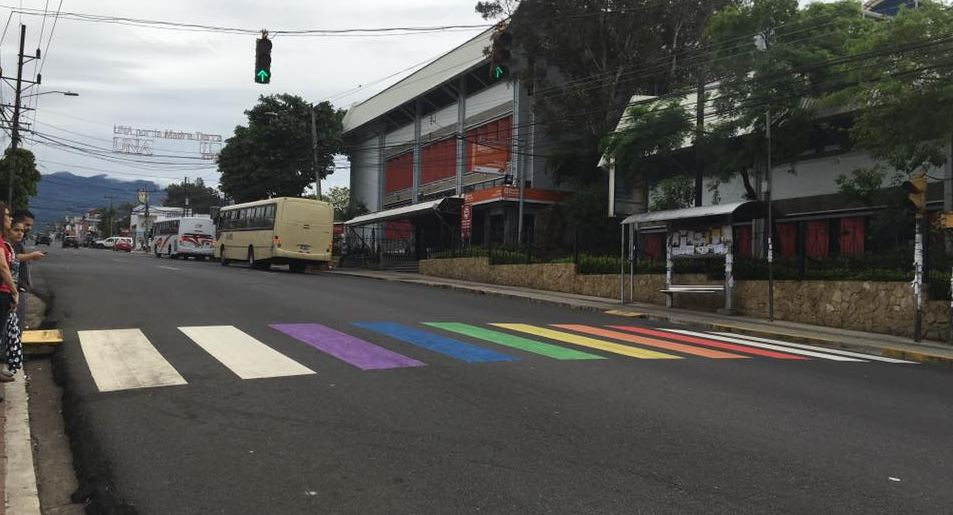 Municipality says the paint job is to demonstrate they are a canton free of all forms of discrimination