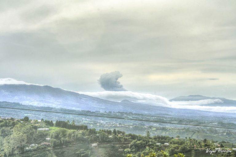 Photos Of Turrialba Volcano Eruption From Grecia