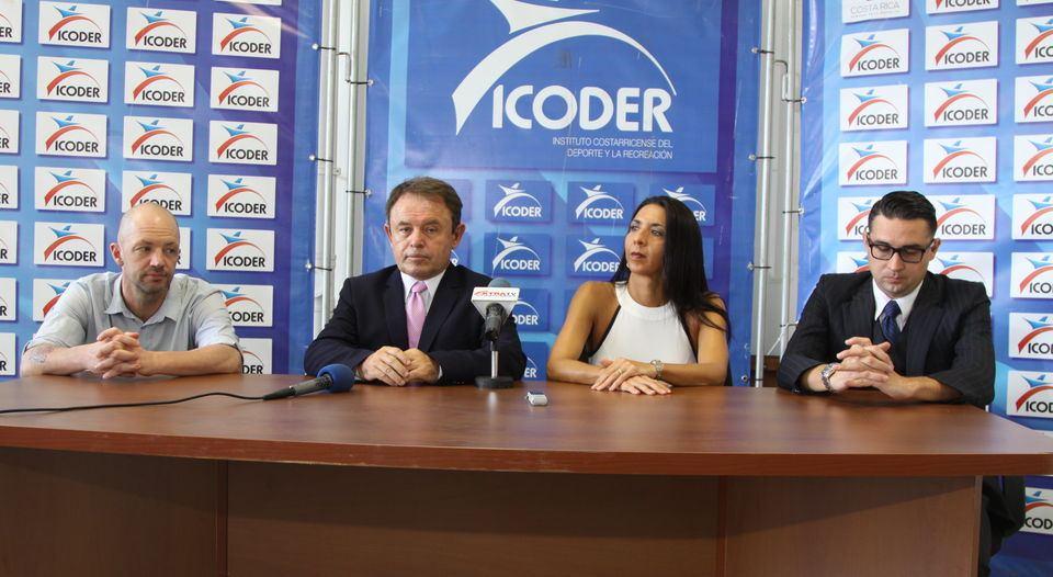 Maximiliano Moreira, Cesar Sanchez, Carolina Guillen and Allan Rimola form the Comisión Nacional Antidopaje - CONAD CR. Photo ICODER press release.