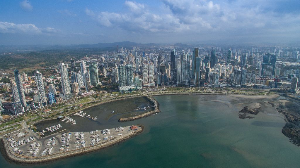 Panama City financial district,  22 March 2016  Wikimedia Commons