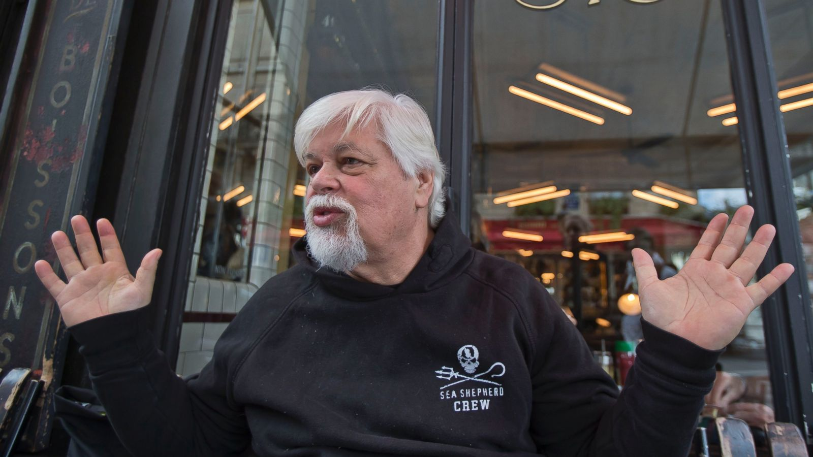 'The camera is the most powerful weapon we've ever invented, so we had to utilize that weapon. That's why we created the (reality) show,' Sea Shepherd founder Paul Watson, shown in 2012, said.