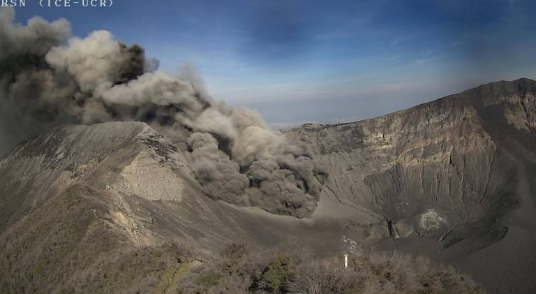 Turrialba Volcano Continues With Ash Eruptions