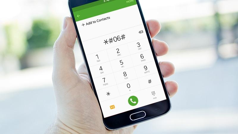 Dial *#06# to check your phone's IMEI (identification number of a mobile device), unique to every cell phone.
