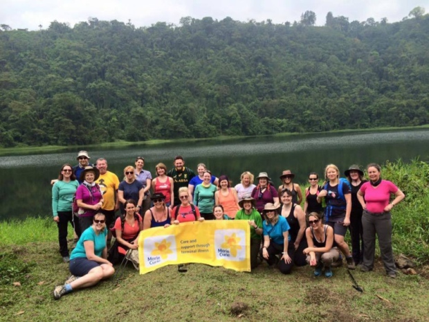 A group of Marie Curie trekkers in Costa Rica.
