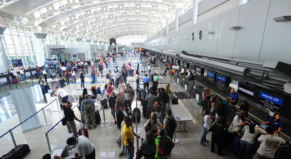San Jose Juan Santamaria International airport (SJO) terminal. From photo archives
