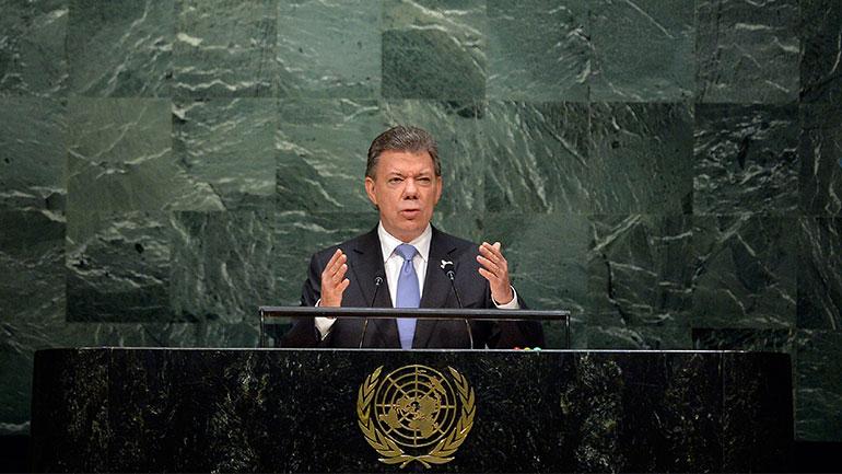 Colombia president Manuel Santos
