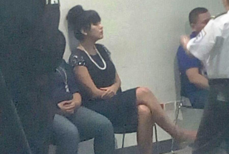 Adriana Corella, in court during trial. Photo El Nuevo Diario