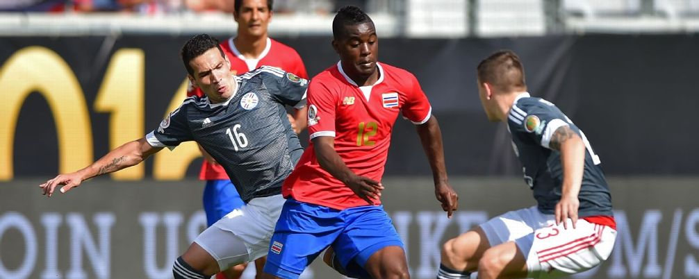 Joel Campbell and Costa Rica could not find a way past Paraguay on Saturday. HECTOR RETAMAL/AFP/Getty Images