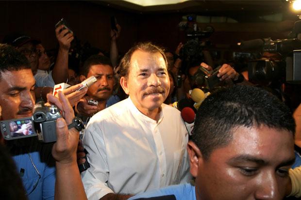 Nicaragua president Daniel Ortega.