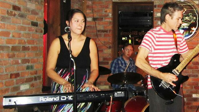 Sarcastic Onions SYSTEM The Sarcastic Onions, from left, Natalie Martin (keyboard), Sam Daniels(drums) and Danny Spence (guitar).