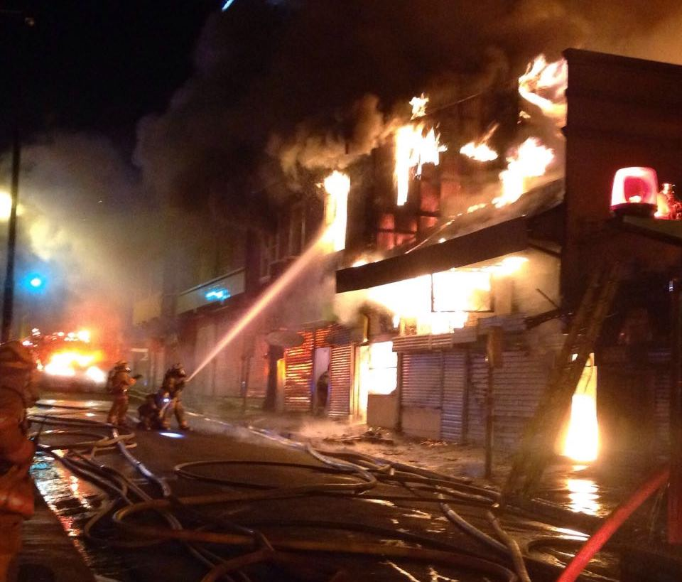 Fire consumes six downtown San Jose buildings in early Saturday morning fire.