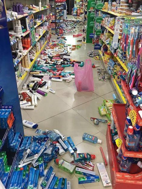 Supermarket shelves in Bijagua. Foto Facebook