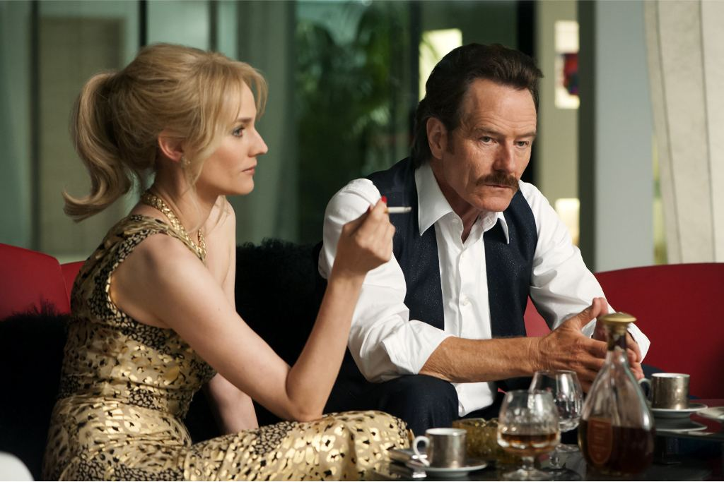 Diane Kruger (L) stars as undercover U.S. Customs agent Kathy Ertz and Bryan Cranston (R) as her partner Robert Mazur in THE INFILTRATOR, a Broad Green Pictures release. Credit: Liam Daniel / Broad Green Pictures