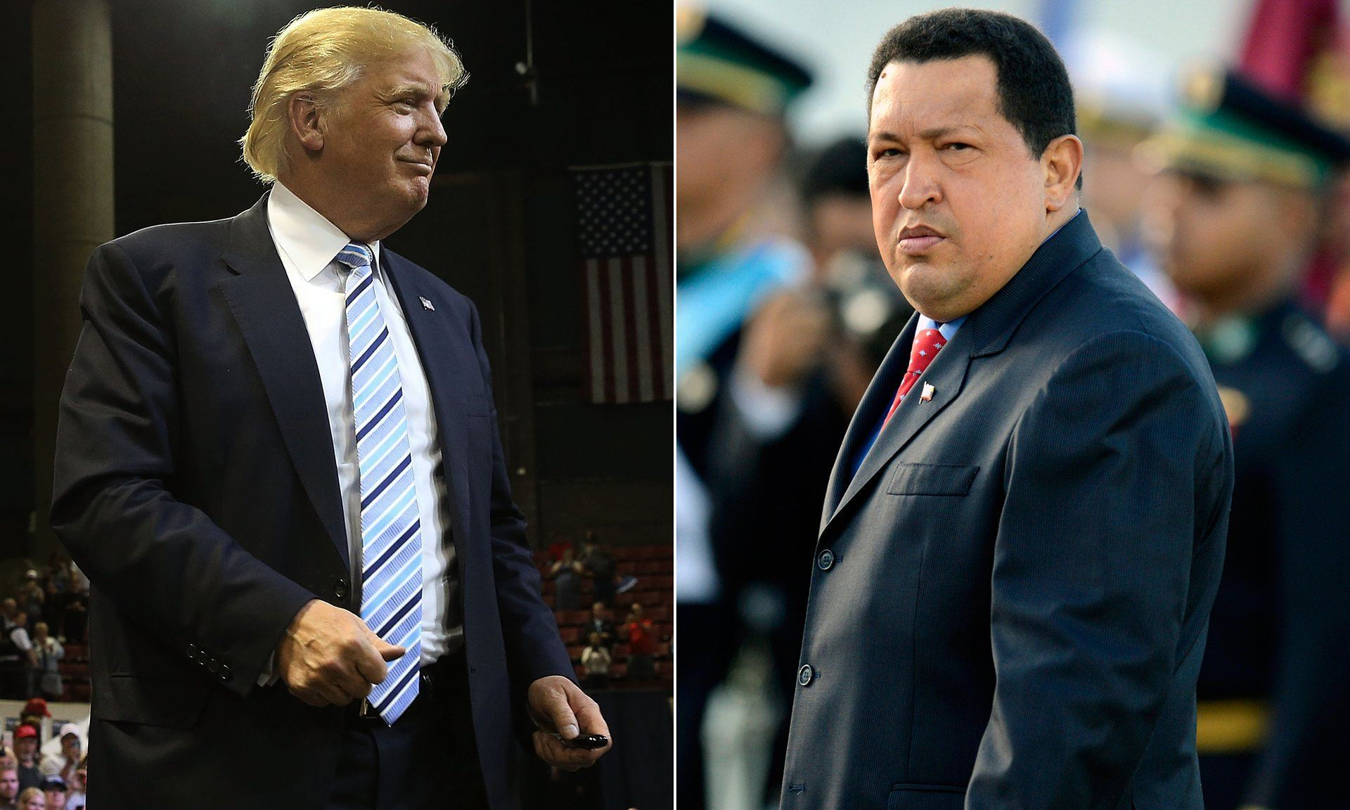 oth Trump and Chávez had their own TV shows. Composite: Getty Images