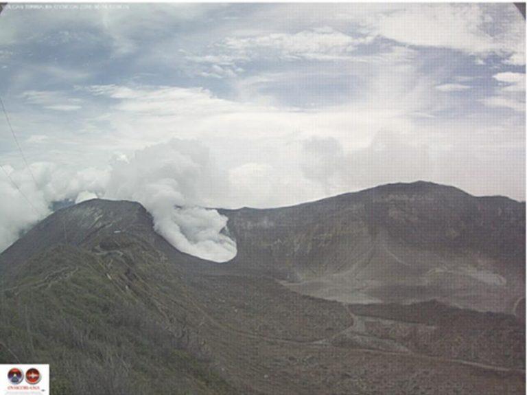 Poas Volcano Eruption on Tuesday