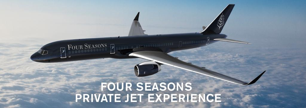 The Four Seasons jet. Yep, they have their own jet!