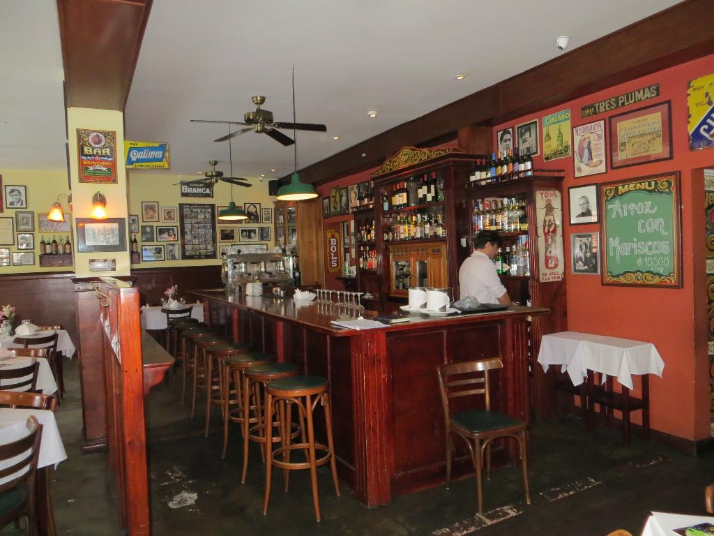The popular bar at La Esquina de Buenos Aires will be packed most every night.