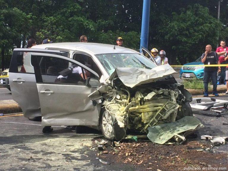 5 Vehicle Collision in Desamparados, Fortunately No Fatalities