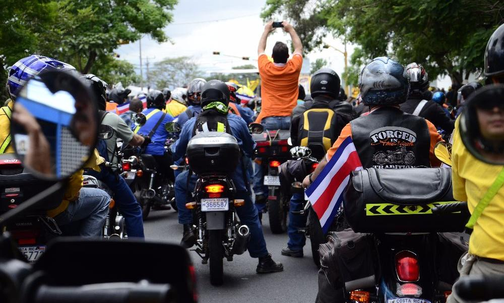 In the country there some 500,000 officially registered motorbikes and more than 150,000 on the roads illegally