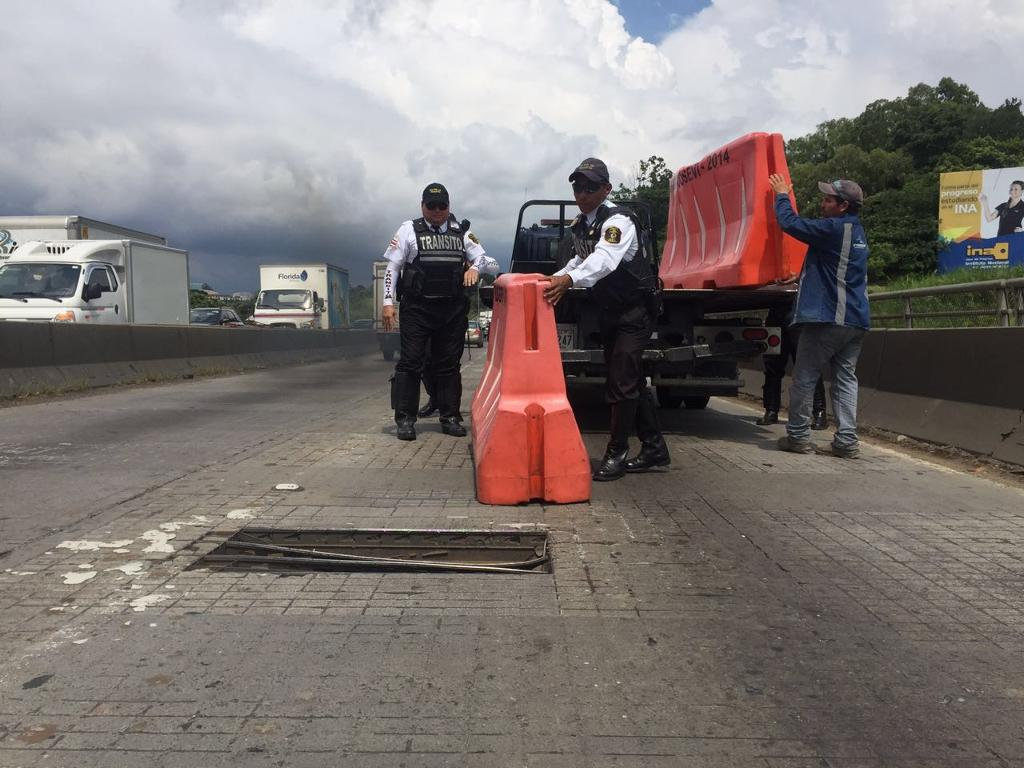 Transito officials (traffic police) on Thursday afternoon.