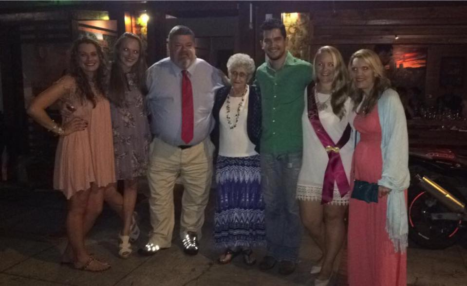 Buchanan (third from left) is pictured with the family in Costa Rica including Michele (second from right) and his son-in-law Luis (third from right)  Read more: http://www.dailymail.co.uk/news/article-3776149/Police-detective-suffers-fatal-heart-attack-father-daughter-dance-daughter-s-wedding.html#ixzz4Jbvatyak Follow us: @MailOnline on Twitter | DailyMail on Facebook