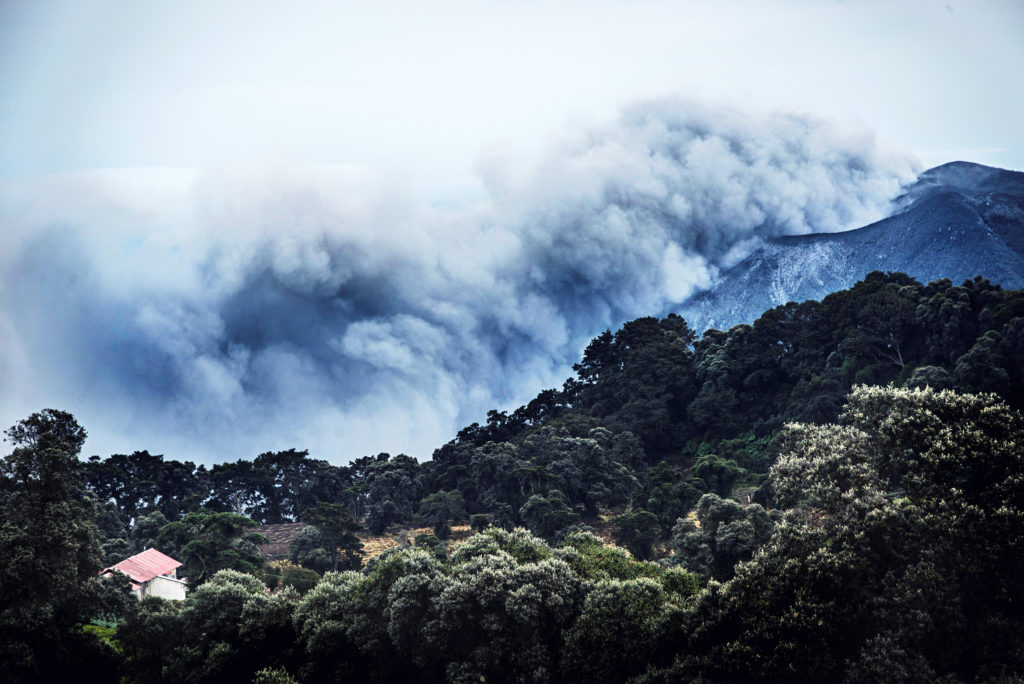 View of the Turrialba volcano on September 20, 2016 in Cartago, 46 km from San Jose.