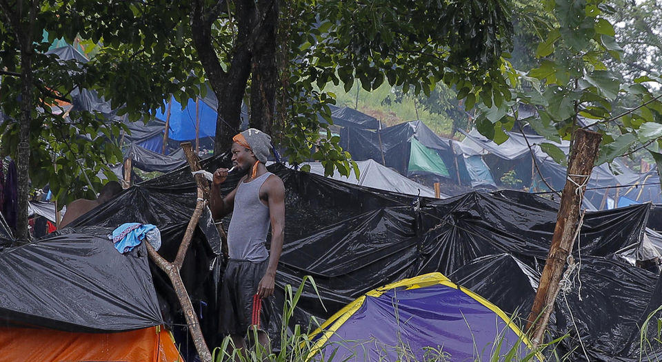 Since April, thousands Haitian migrants are putting down roots in the Costa Rican border as part of their pilgrimage to the United States in search of the American dream. They travel overland from South America, mainly from Brazil. | MAYELA LOPEZ