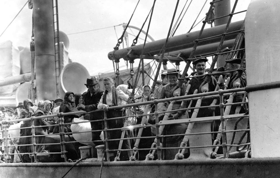 This may not be what an immigration looks like today, but the experience has changed much