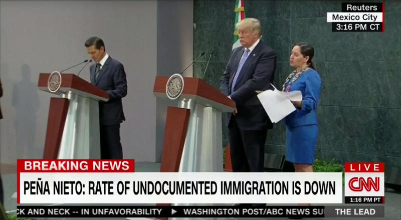 Mexican President Enrique Peña Nieto and GOP nominee Donald Trump. CREDIT: CNN