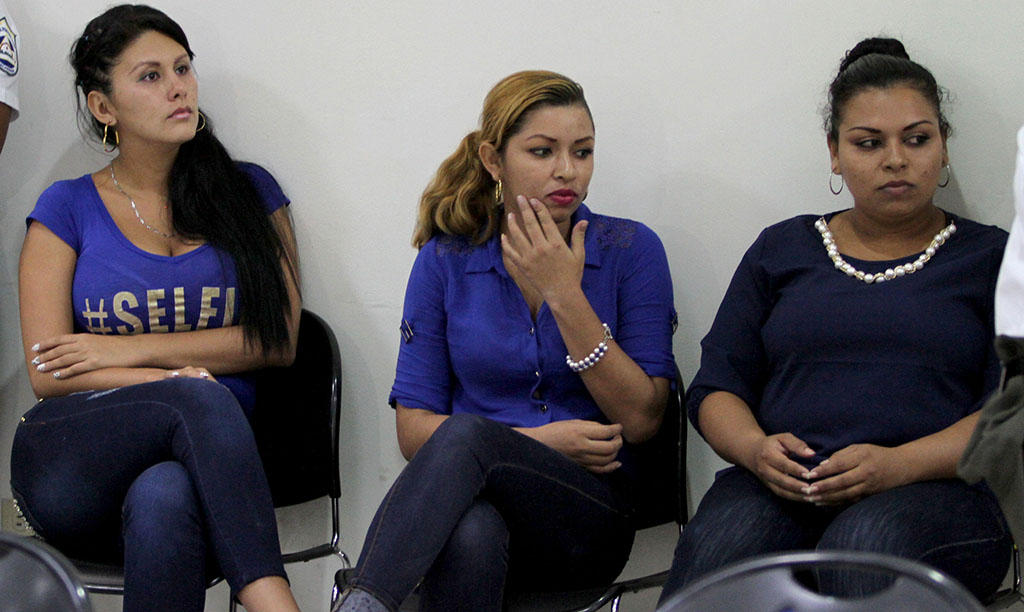 Adriana Corella (left) In court on Wednesday during sentencing