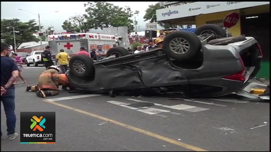 Accident Monday in Alajuela